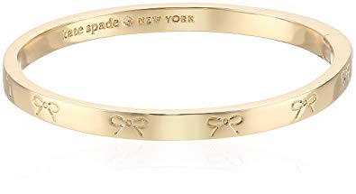 Kate Spade New York Heavy Metals Engraved Bow Bangle Bracelet