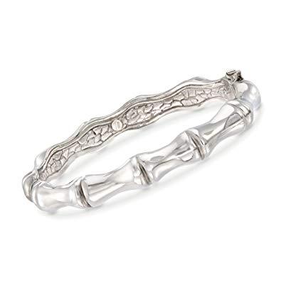 Ross-Simons Italian Sterling Silver Bamboo Bangle Bracelet