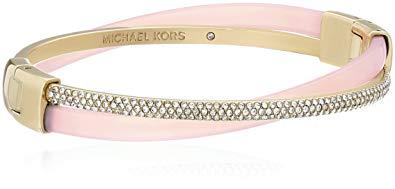 Michael Kors Core Acetate and Pave Crisscross Hinged Bangle Bracelet